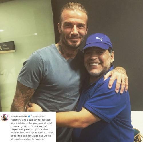 David Beckham dan Diego Maradona.
