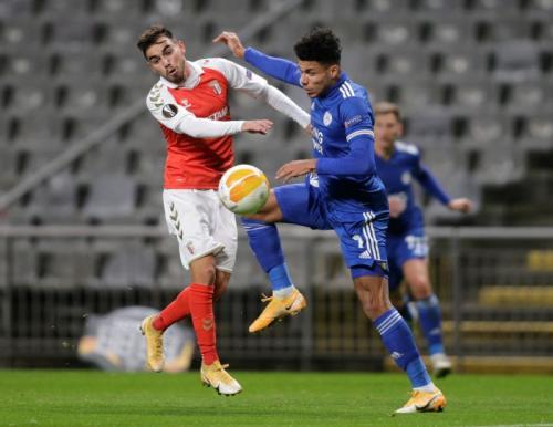 Suasana laga Braga vs Leicester