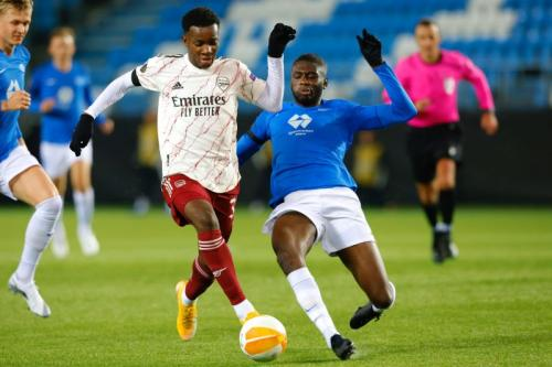 Suasana laga Molde vs Arsenal