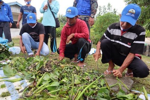 BNPB edukasi warga Pelalawan mengolah lahan gambut tanpa bakar. (BNPB)