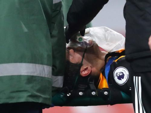 Tengkorak Raul Jiemnez retak pada tahun lalu (Foto: Reuters)