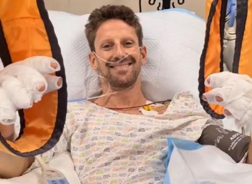 Romain Grosjean mendapat perawatan intensif
