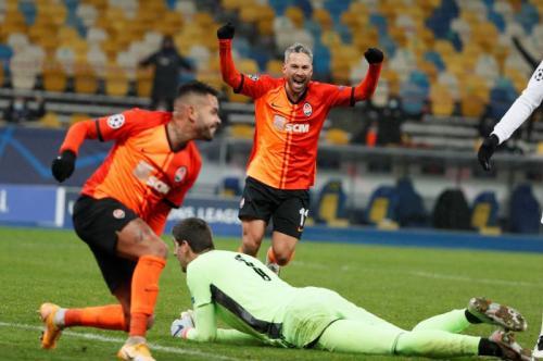 Suasana laga Shakhtar Donetsk vs Real Madrid