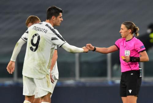 Aksi Alvaro Morata saat membela Juventus
