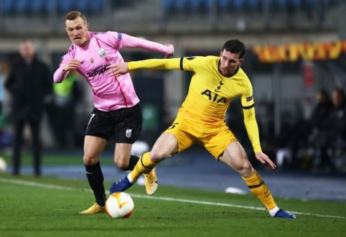 Suasana laga LASK Linz vs Tottenham Hotspur (Foto: Reuters)