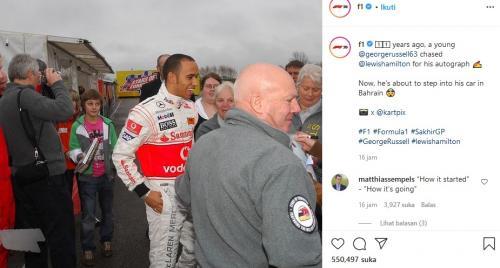 George Russel dan Lewis Hamilton (Foto: Instagram/@F1)