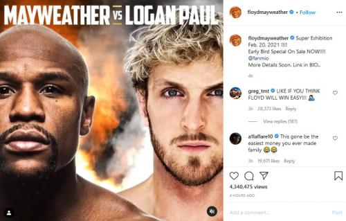 Floyd Meyweather Jr vs Logan Paul