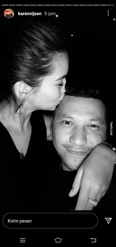 Gading Marten punya pacar baru? (Foto: Instagram/@karennijsen)