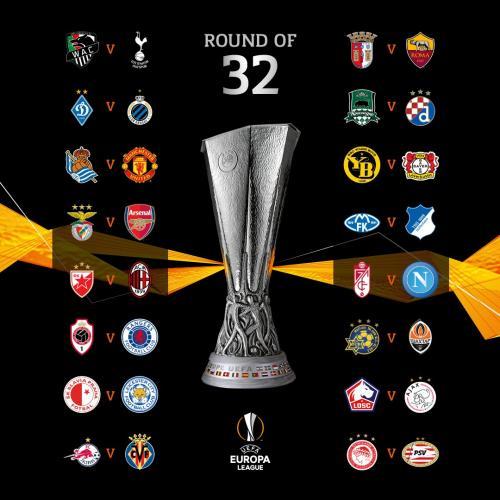 Hasil drawing babak 32 besar Liga Eropa 2020-2021