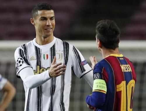 Cristiano Ronaldo dan Lionel Messi (Foto: Reuters)