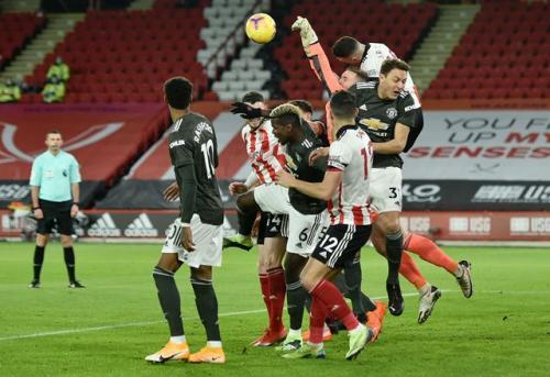 Suasana laga Sheffield United vs Man United