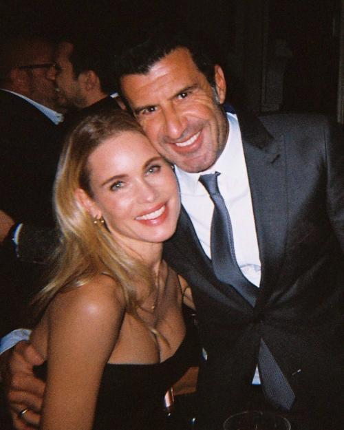 Helen Svedin dan Luis Figo