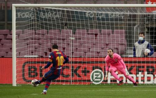 Aksi Lionel Messi (Foto: Reuters)