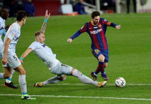 Aksi Messi di laga Barcelona vs Valencia