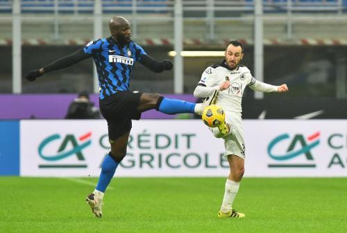 Aksi Romelu Lukaku saat membela Inter