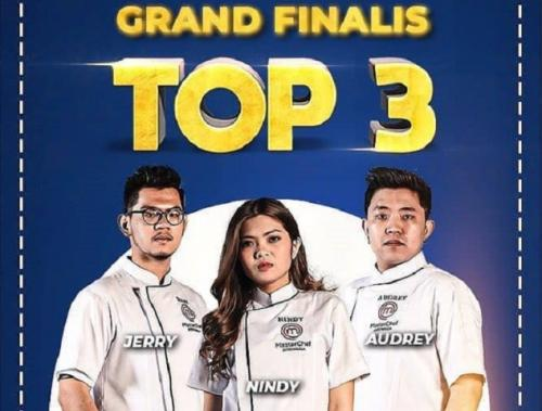 Top 3 MasterChef Indonesia Season 7. (Foto: Instagram @officialrcti)