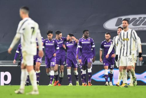 Juventus saat menghadapi Fiorentina pada Desember 2020