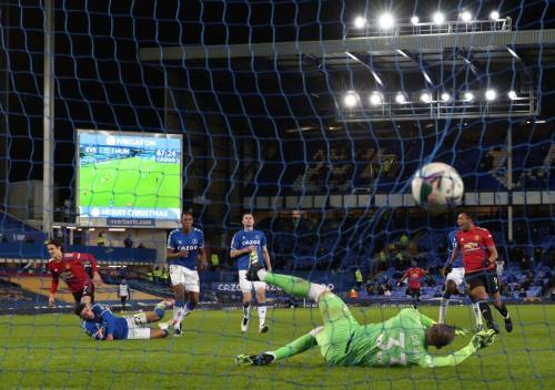 Everton vs Man United (Foto: Reuters)