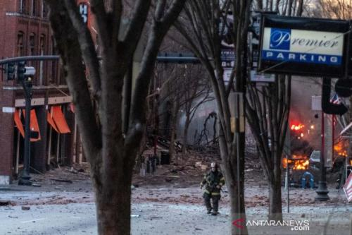 Ledakan di Nashville, AS (Foto: Antara/Reuters)