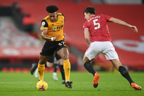 Suasana laga Man United vs Wolverhampton