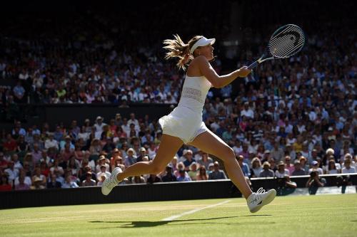 Aksi Maria Sharapova di lapangan (Foto: Wimbledon)