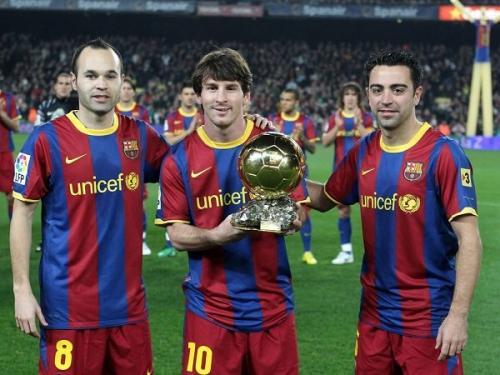 Iniesta, Messi, Xavi