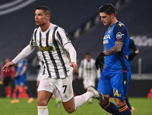 Cristiano Ronaldo di laga Juventus vs Udinese