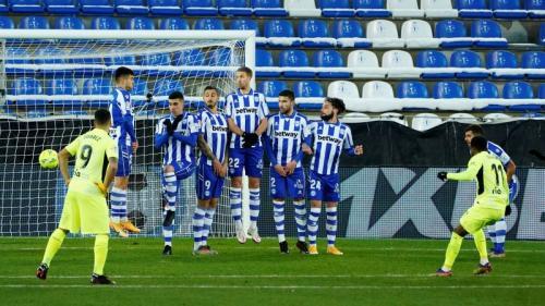 Suasana laga Alaves vs Atletico Madrid
