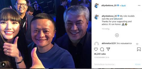 Sabina Altynbekova dan Jack Ma