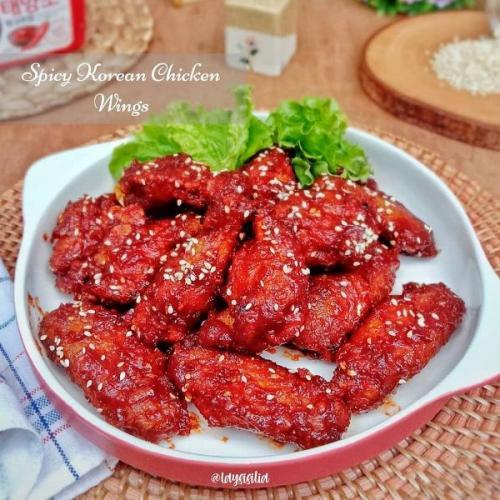 Spicy Korean chicken wings. (Foto: Instagram @berbagiresep)