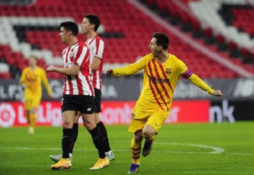 Lionel Messi bawa timnya berbalik unggul (Foto: La Liga)