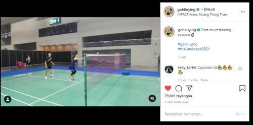Sesi latihan Thailand Open 2021
