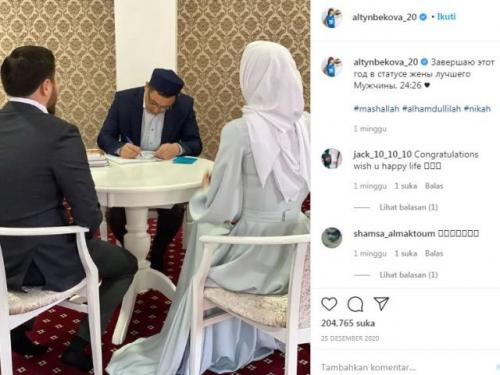 Sabina Altynbekova resmi menikah