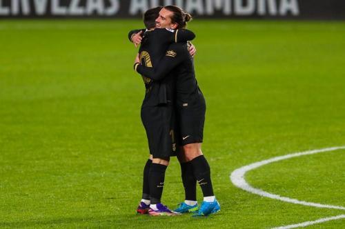 Lionel Messi dan Antoine Griezmann (Foto: Twitter/@FCBarcelona)