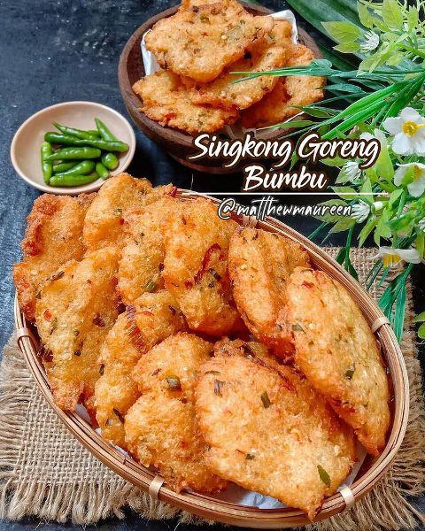 Singkong goreng bumbu. (Foto: Instagram @matthewmaureen)