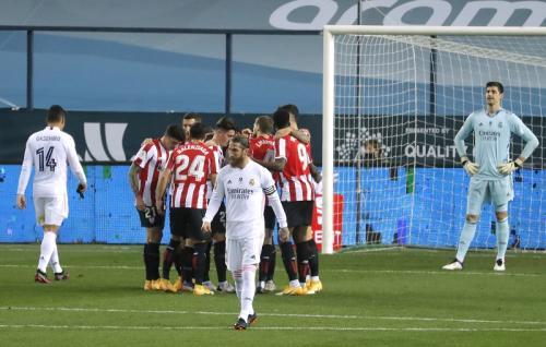 Athletic Bilbao lolos setelah singkirkan Real Madrid (Foto: Reuters/Jon Nazca)