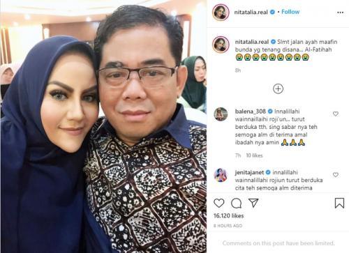Nita Thalia dan mantan suami