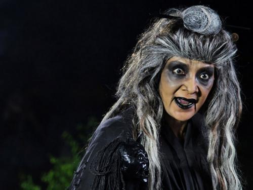 Farida Pasha sebagai Nenek Lampir dalam Misteri Gunung Merapi.