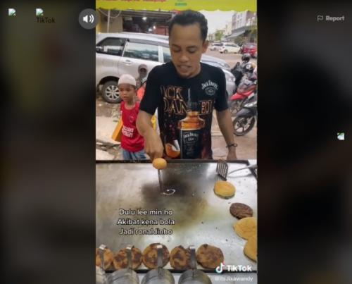 Viral atraksi penjual burger hibur pembeli ala teppanyaki. (Foto: TikTok @its.lixawandy)