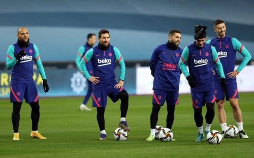 Lionel Messi sudah berlatih (Foto: Barcelona)