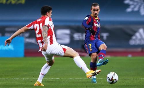 Antoine Griezmann vs Bilbao (Foto: Reuters)