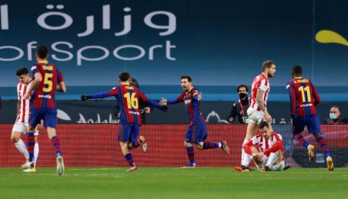 Barcelona sempat memimpin 2-1 (Foto: Reuters)