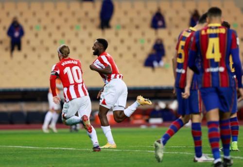 Inaki Williams cetak gol kemenangan (Foto: Reuters/Marcelo del Pozo)