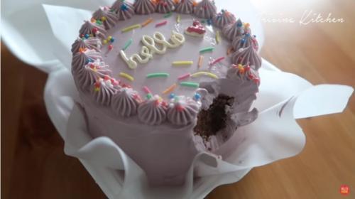 Korean lunch box cake. (Foto: YouTube Trivina Kitchen)