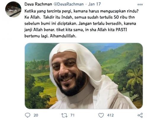 Syekh Ali Jaber. (Foto: Twitter/@DevaRachman)