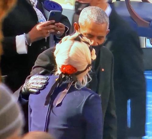 Lady Gaga dan Barack Obama
