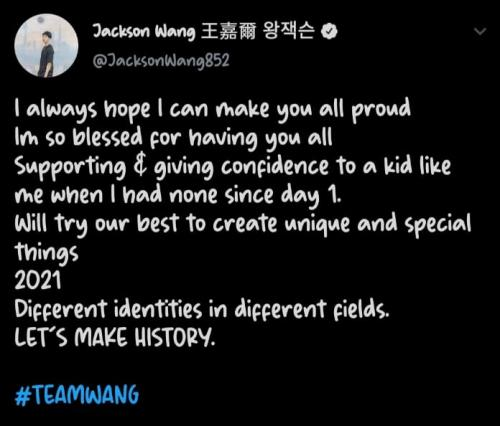 Jackson Wang. (Foto: Twitter/@JacksonWang852)