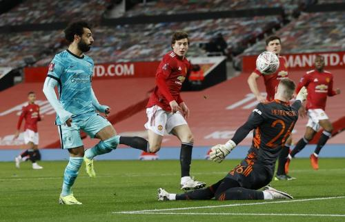 Mohamed Salah vs Man United (Foto: Reuters)