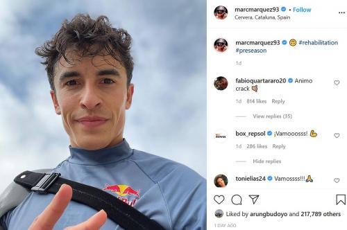 Marc Marquez terus memulihkan diri