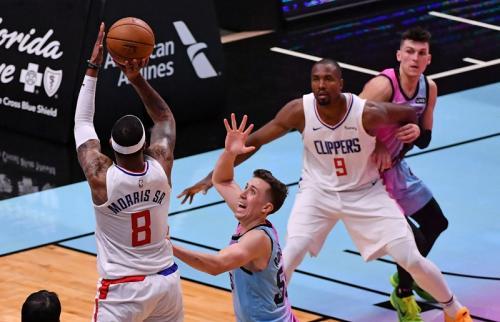 Miami Heat sukses taklukkan LA Clippers (Foto: Reuters/Jasen Vinlove)